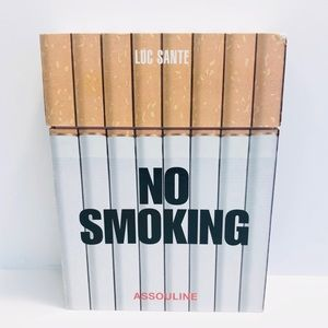 NO SMOKING By Luc Sante Coffee Table Book w/Case